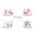 real estate agency - people choosing vector image vector image