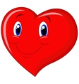 Red heart cartoon vector image