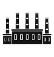 refinery oil factory icon simple style vector image