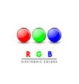 rgb icons vector image