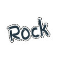 rock patch emblem sticker vector image vector image