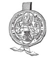 seal of richard earl of arundel privy seal to vector image vector image