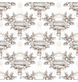 seamless pattern of contour patterns vintage vector image vector image