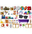 set od children toys vector image vector image