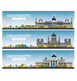 set university campus study banners vector image