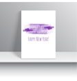 Smear a watercolor painting creative happy new vector image