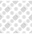 Snowflakes with Christmas gift box seamless vector image