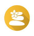 stones for massage flat design long shadow icon vector image vector image