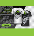 t-shirt template fully editable with green atv vector image vector image