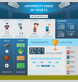 university sport infographic concept vector image