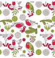 vintage christmas art print vector image vector image