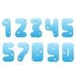 Blue water numbers vector image