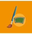 school board icon puzzle brush design vector image