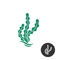 Seaweed logo template One black color monochrome vector image