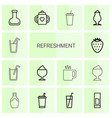 14 refreshment icons vector image vector image