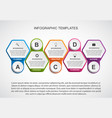 abstract hexagon business options infographics vector image