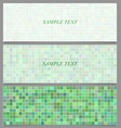 Abstract square pattern banner background set vector image vector image