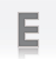 Alphabet E vector image vector image