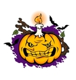 Angry halloween pumpkin vector image vector image