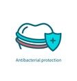 antibacterial protection teeth vector image