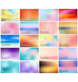 big set of 20 horizontal wide blurred nature vector image