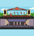 boys and girls music bband performing on stage in vector image vector image