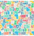 Brazilian favela Bright colored seamless pattern vector image vector image