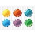 Cartoon soap bubble set vector image vector image