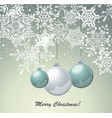 christmas card design with glass balls and vector image vector image