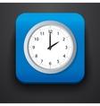 Clock symbol icon on blue vector image vector image