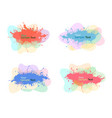 collection of modern colorful abstract watercolor vector image vector image