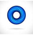 Cool blue swirl icon vector image vector image