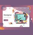 designer website landing page design vector image vector image