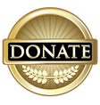 Donate Gold Label vector image vector image