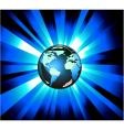earth light explosions vector image vector image