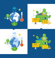 ecology environmental issues global warming eco vector image vector image