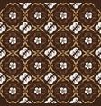 elegance flower design on kawung batik with simple vector image vector image