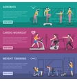 Fitness Gym Training Banners vector image vector image