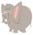 funny elephant cartoon animal character vector image