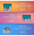 Geometry algebra and math banners Science vector image