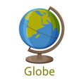 globe isolated on the white background vector image vector image