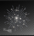 glowing explode sparkling particles vector image vector image