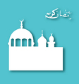 Greeting card with architecture for Ramadan Kareem vector image vector image
