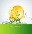 growing leaf vector image vector image
