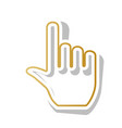 hand sign golden gradient vector image vector image