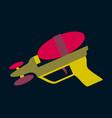 icon in flat design toy gun vector image vector image