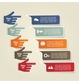 Infographic report template with hands vector image vector image