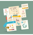 Infographics Paper Layout - Template vector image vector image