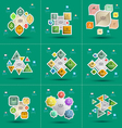 infographics set Template for diagram graph presen vector image vector image
