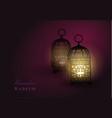 intricate arabic lamp vector image